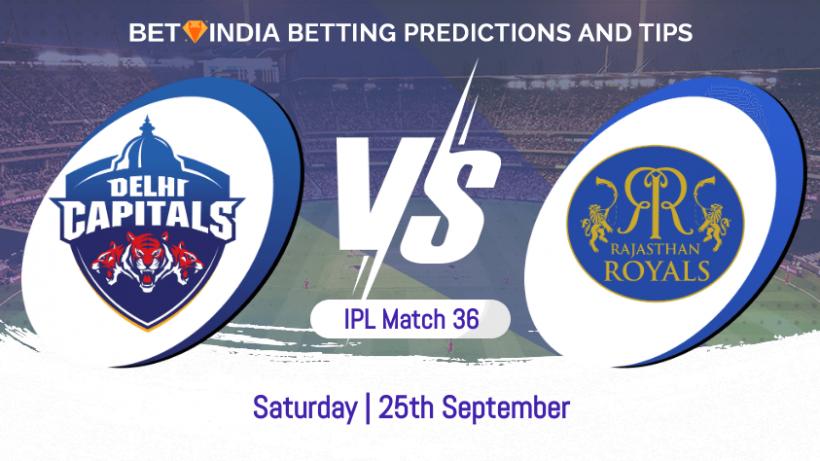 Delhi Capitals vs Rajasthan Royals 36th Match IPL 2021 Betting Predictions