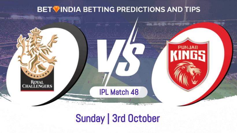 Royal Challengers Bangalore vs Punjab Kings 48th Match IPL 2021